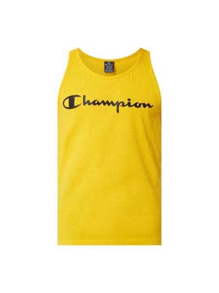 Bawełna bawełna żółty top z dekoltem Champion