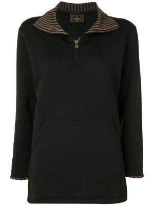 Черная куртка на молнии с воротником Fendi Pre-owned