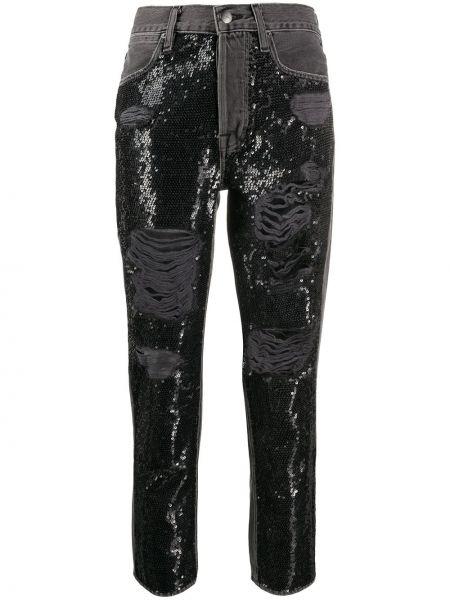 Прямые джинсы с пайетками на пуговицах Frame