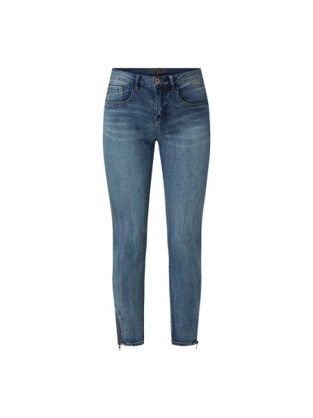 Mom jeans bawełniane - niebieskie Cream