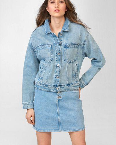 Bawełna niebieski bawełna kurtka jeansowa Orsay