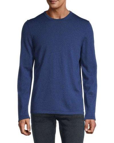 Niebieski długi sweter wełniany z długimi rękawami Hugo Hugo Boss