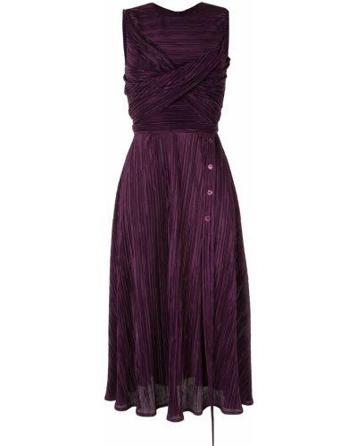 Асимметричное фиолетовое платье миди с вырезом с поясом Dalood