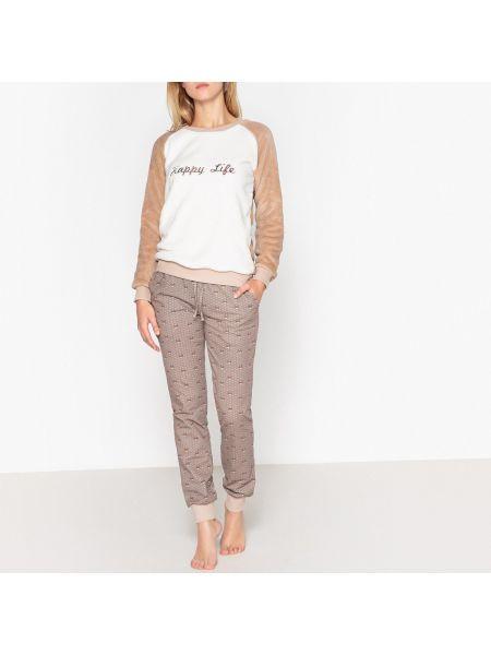 Пижама с брюками с надписью теплая La Redoute Collections