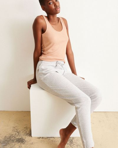 Szare spodnie bawełniane Undiz