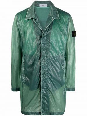 Куртка на пуговицах - зеленая Stone Island