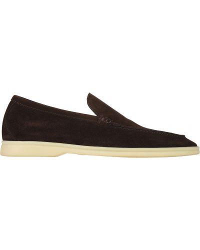 Туфли замшевые коричневый Loro Piana