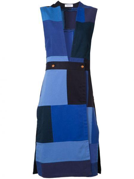 Хлопковое синее платье без рукавов Rodebjer