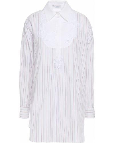 Хлопковая белая рубашка в полоску Vivetta