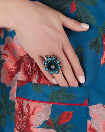 Кольцо металлический вечерний Gucci