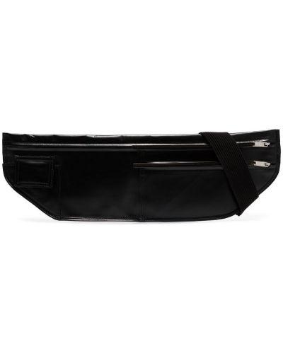 Поясная сумка на молнии черная Rick Owens