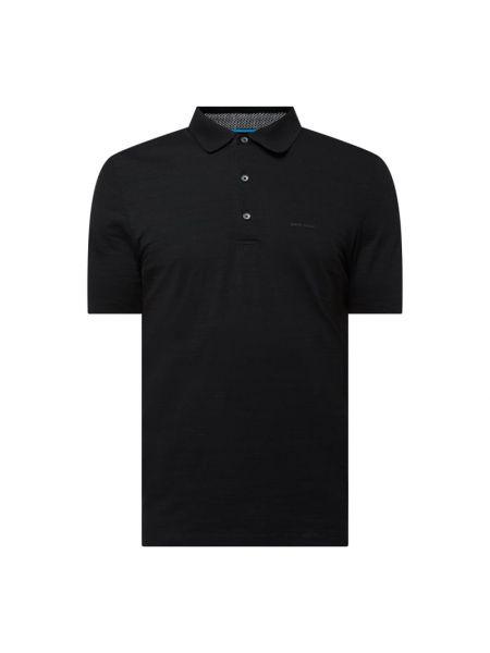 T-shirt bawełniana - czarna Pierre Cardin