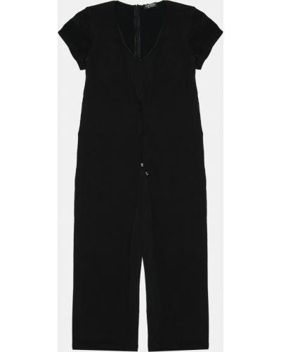 Повседневный шелковый черный комбинезон Twin-set