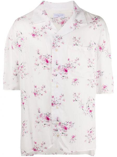 Biała koszula z wiskozy w kwiaty Ih Nom Uh Nit
