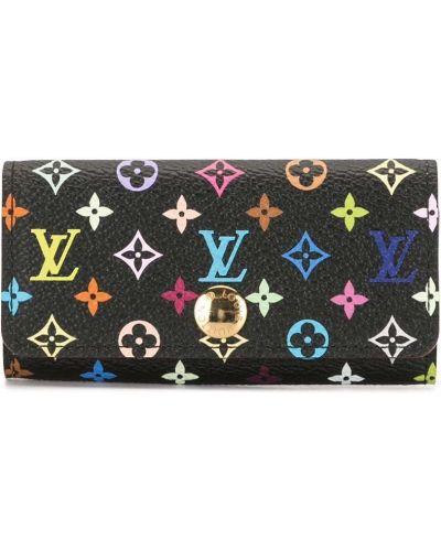 Черная кожаная ключница с подкладкой Louis Vuitton