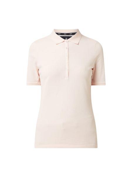 T-shirt bawełniana - różowa Joop!