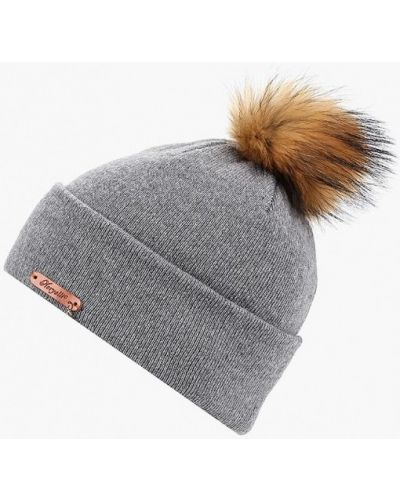 Серая шапка осенняя Noryalli