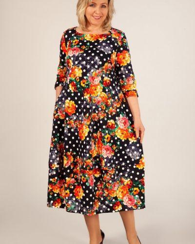 Летнее платье в горошек в стиле бохо милада