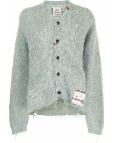 Zielony sweter z dekoltem w serek Maison Mihara Yasuhiro