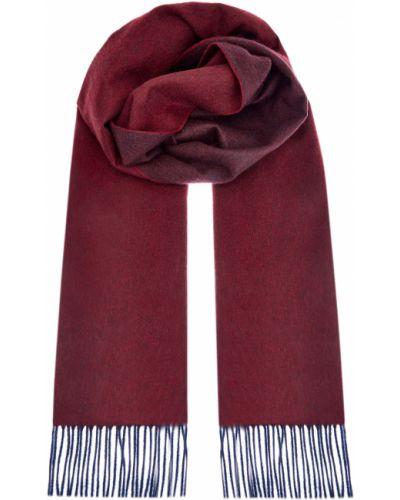 Теплый красный кашемировый шарф Bertolo Cashmere