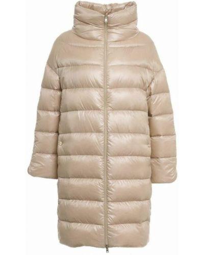 Beżowy płaszcz Herno