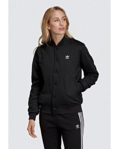 Черная куртка весенняя Adidas Originals