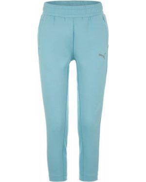 Спортивные брюки из полиэстера - голубые Puma
