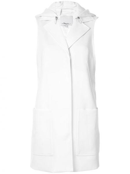 Белое пальто с воротником из вискозы с потайной застежкой 3.1 Phillip Lim