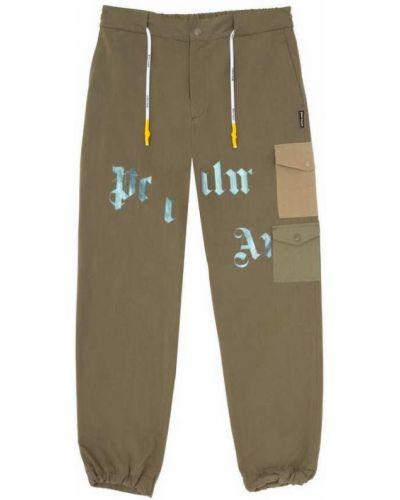 Beżowe spodnie Palm Angels