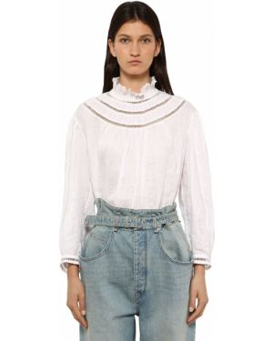 Рубашка с длинным рукавом льняная без воротника Isabel Marant étoile