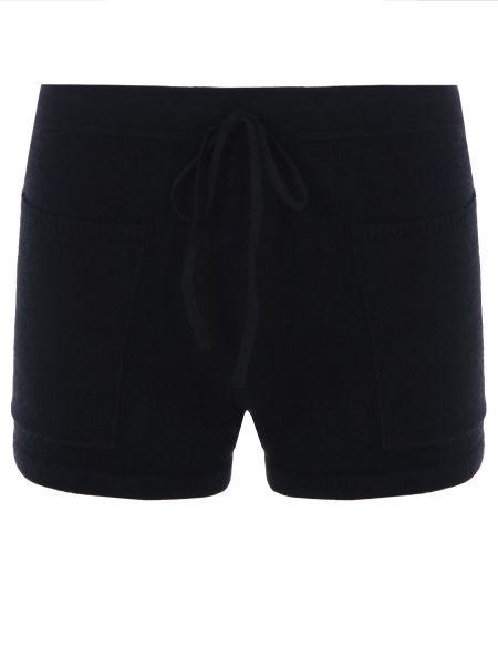 Кашемировые черные короткие шорты с карманами Gentryportofino