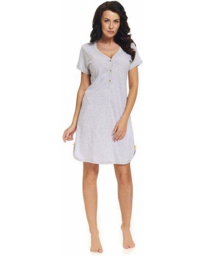 Koszula nocna bawełniana - biała Doctor Nap
