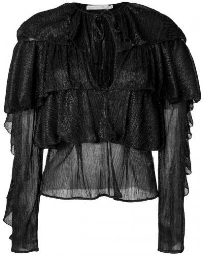 Блузка с длинным рукавом кружевная с завязками Amen.