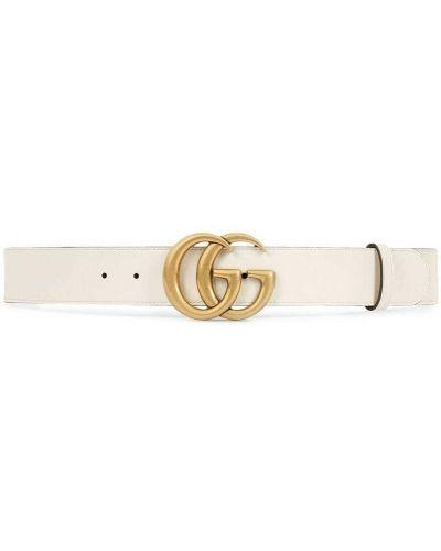 Ремень с пряжкой кожаный Gucci