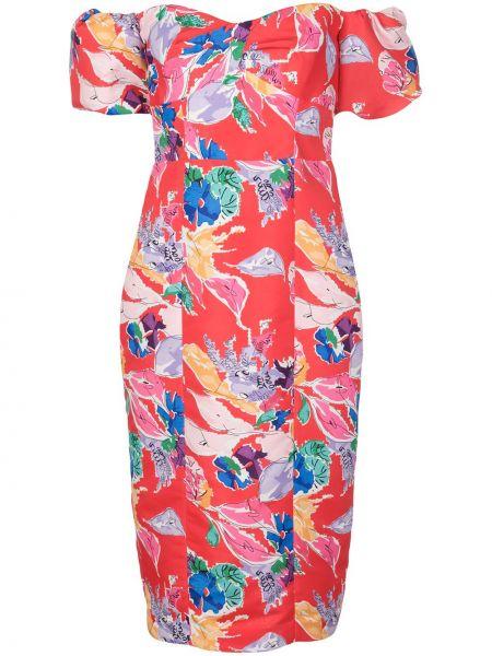 Платье мини с цветочным принтом на молнии Milly