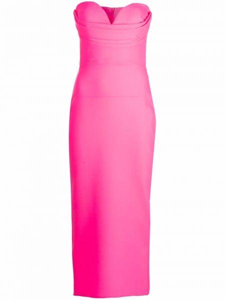 Розовое платье макси без рукавов Alex Perry