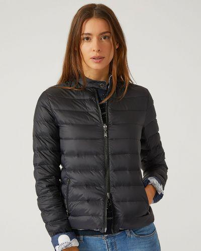 Куртка с перьями - черная Emporio Armani