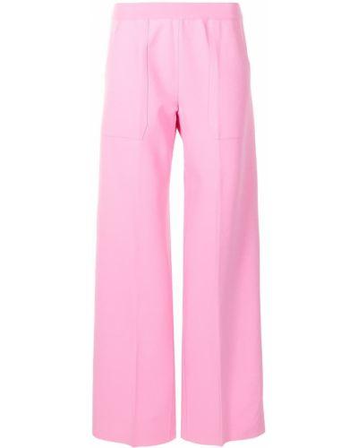Różowe spodnie z wiskozy Mrz