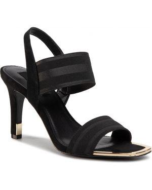 Sandały skórzany czarne Dkny