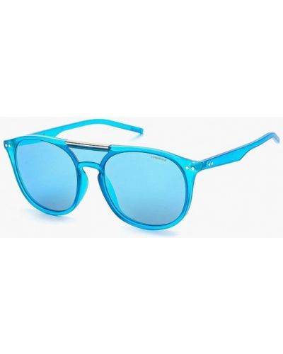 Голубые солнцезащитные очки Polaroid