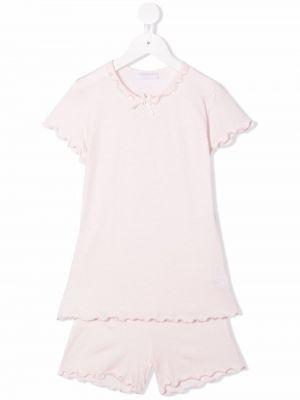 Lniana piżama - różowa Story Loris