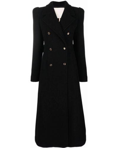 Шерстяное пальто - черное Elie Saab