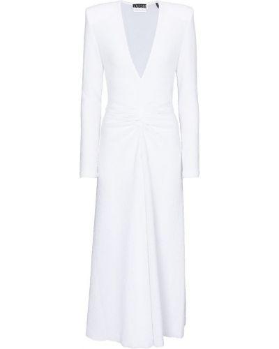 Biała sukienka midi z falbanami Rotate Birger Christensen