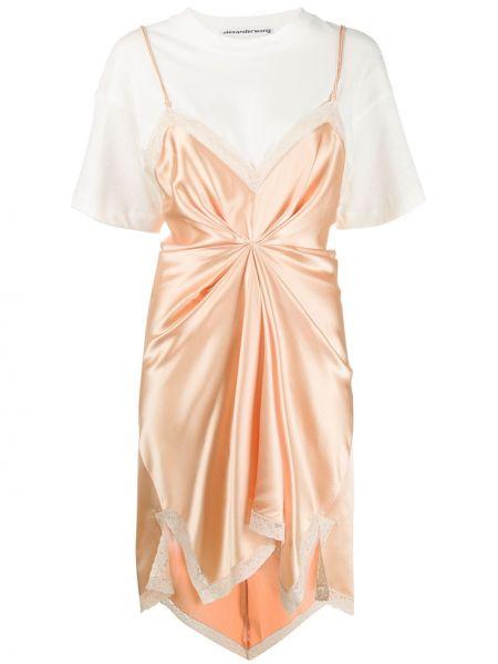Sukienka koronkowa - różowa Alexander Wang