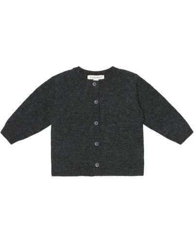 Шерстяной черный кардиган Caramel
