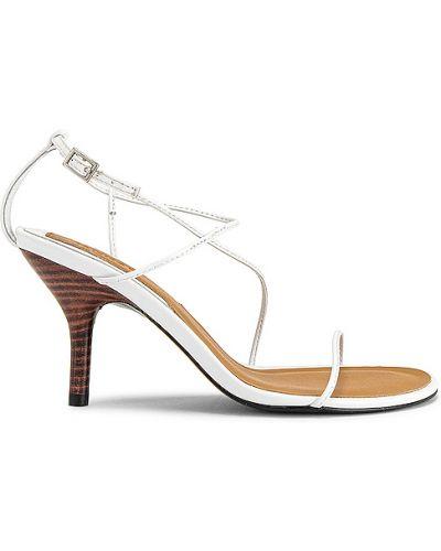 Beżowe sandały skorzane klamry Jaggar