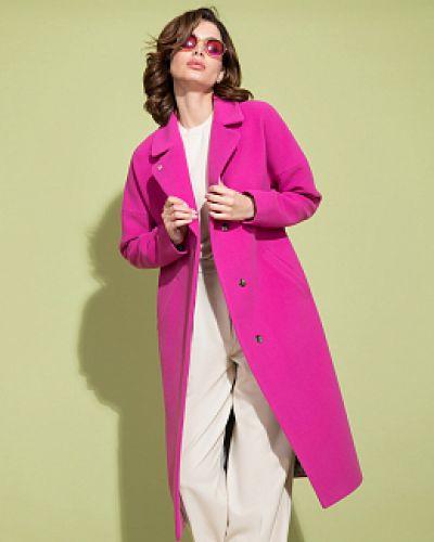 Шерстяное пальто - розовое Electrastyle