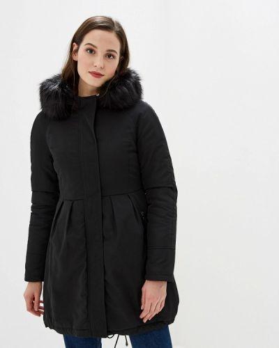 Теплая черная утепленная куртка Gaudi