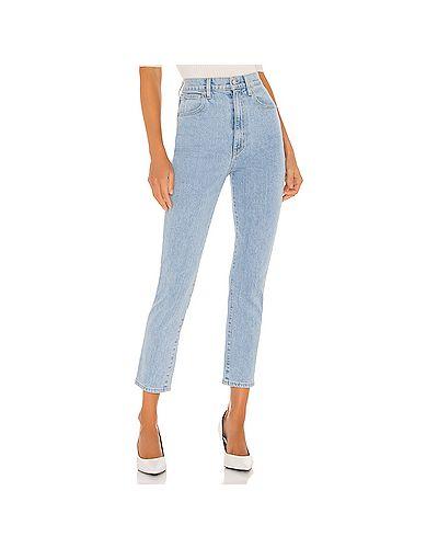 Синие облегающие прямые джинсы с карманами на молнии Slvrlake
