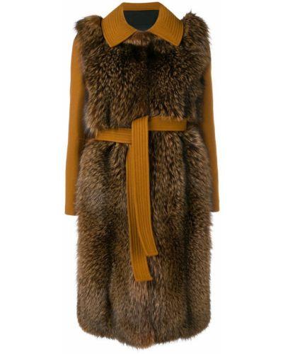 Длинное пальто с капюшоном Blancha